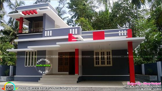1291 sq-ft work finished home in Kerala 2017