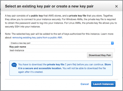 Create a new key pair aws