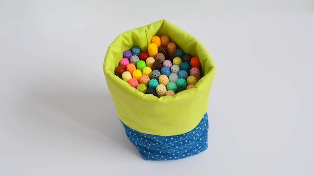 tutorial cestas de tela