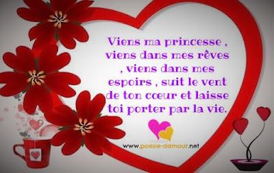 Tres beau poèmes d'amour sur images romantique