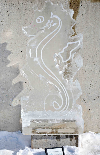 Ice Carving Seahorse