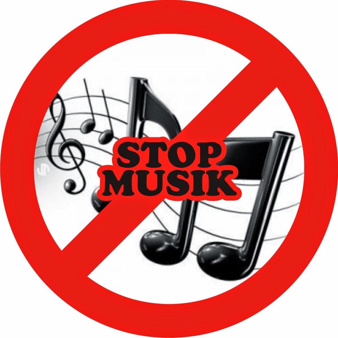 stop musik,musik haram,anti musik,musik logo
