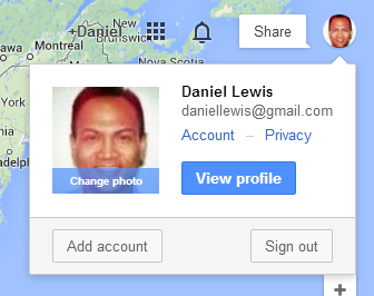 Circular Profile Pictures in Google's Navigation Bar