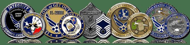 Air force military coins