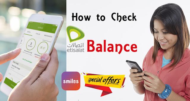 how to check etisalat balance