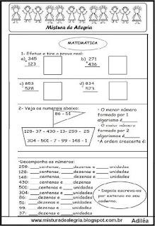 Atividade matemática operações