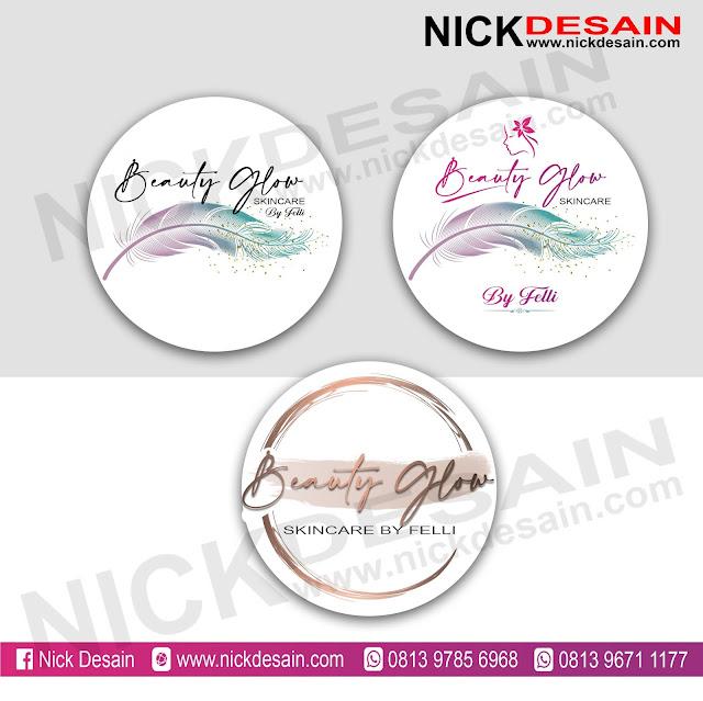 Contoh Desain Logo Skincare dan Cetak Stiker Label - Percetakan Tanjungbalai