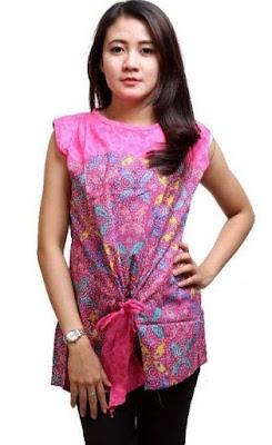 Gaun Remaja Modern Kombinasi Batik