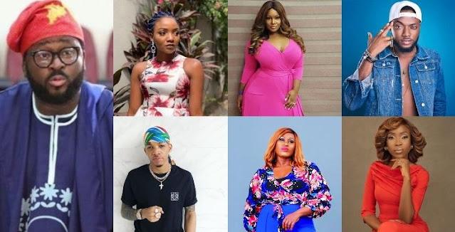 Uche Jombo, Toolz, Simi, Tekno, Lala Akindoju and other Nigerian celebrities slam Desmond Elliot
