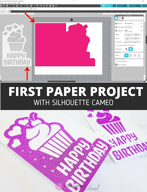 silhouette america blog, silhouette 101, paper crafts, silhouette CAMEO beginners, paper card