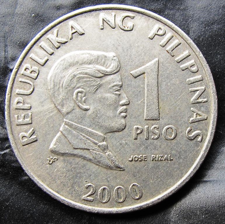 Republika Ng Pilipinas 1 Piso Jose Rizal 2000