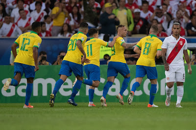 Brasil vence o Peru e conquista nono título da Copa América