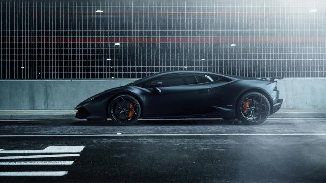 Lamborghini Huracan - Couleur Noire Mate - Full HD 1080p