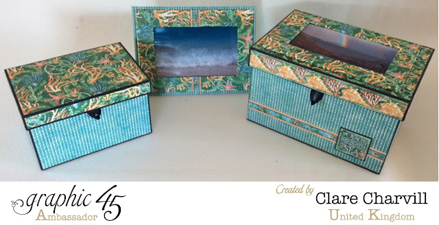 Voyage Beneath the Sea Altered boxes and Photo Frames by My Creative Spirit Graphic 45