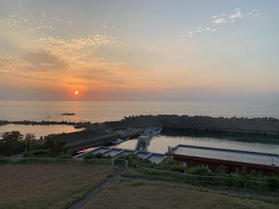 越前海岸の夕日その2