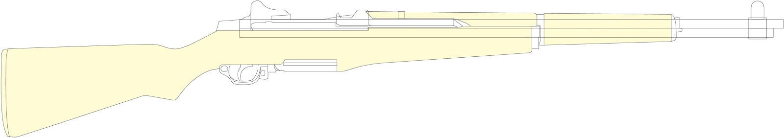 picture about Printable Gun Stock Templates named Timbos Creations: M1 Garand Marshmallow Shooter