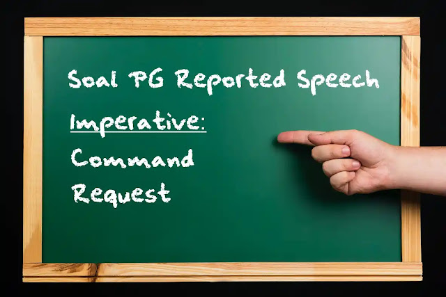 DBI - Soal PG reported speech command, request