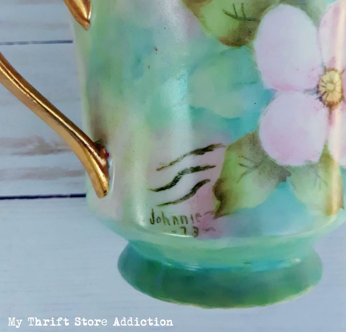 vintage hand painted porcelain