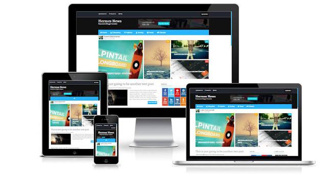 Hermes бесплатный шаблон для Blogger