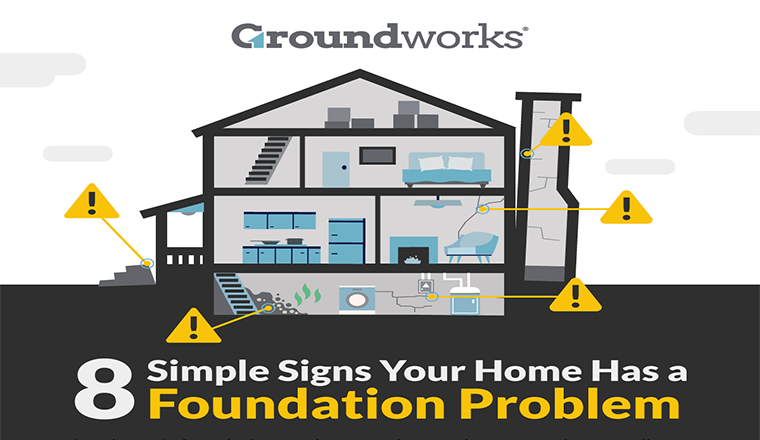 8 Simple Signs Your Home Has a Foundation Problem #infographic