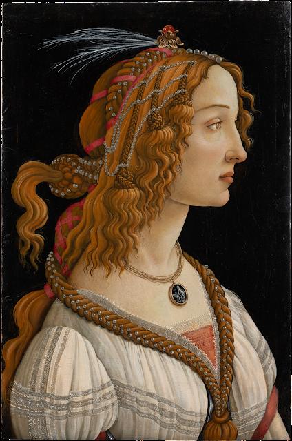 Alessandro Filipepi dit Botticelli (vers 1445 – 1510), Figure allégorique dite La Belle Simonetta, vers 1485, tempera et huile sur bois de peuplier , 81,8 × 54 cm, Francfort-sur-le-Main, Städel Museum, CC BY-SA 4.0 Städel Museum, Frankfurt am Main