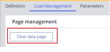 how to clear data page in pega