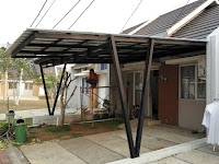 Pemasangan kanopi di perumahan Suradita Cisauk | Tangerang