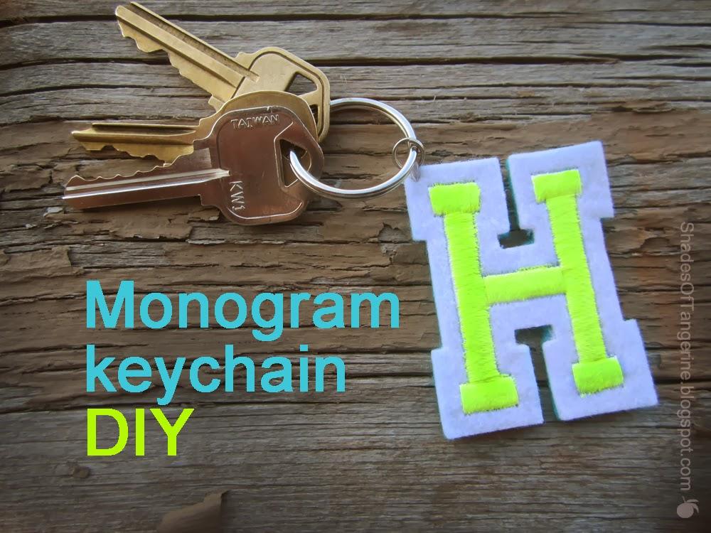 Shades Of Tangerine: Monogram Keychain (DIY)