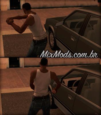 gta sa mod cleo roubar carros estilo gta iv quebrando o vidro para abrir