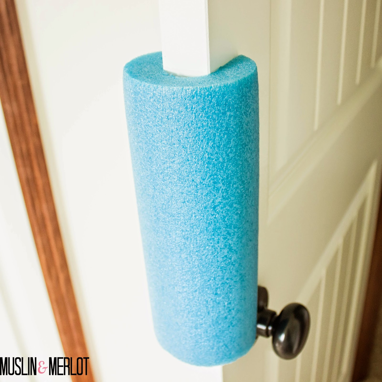 Pool Noodle Door Stop!