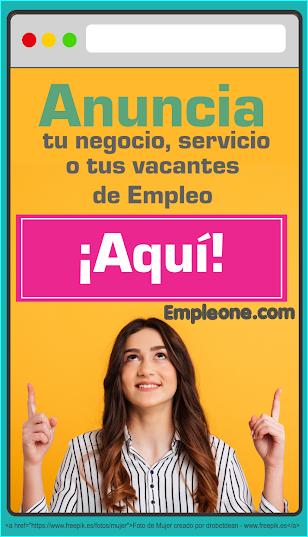 Anúnciate con nosotros EmpleOne.com