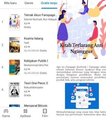 cara download buku di android