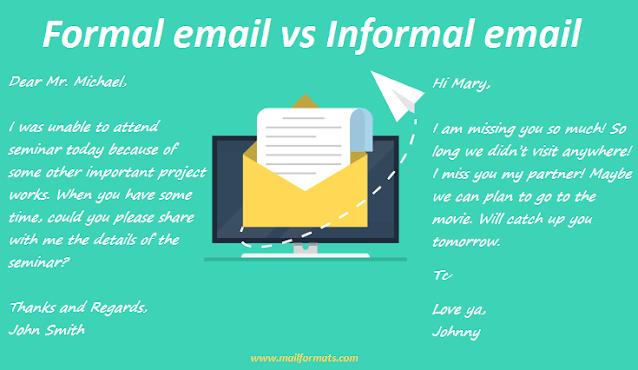 Formal email vs Informal email