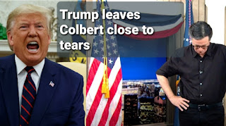 Donald trump leaves late night show host stephen colbert choked to tears over election rigging