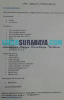 Info Lowongan Pekerjaan di PT. Yasiira Indonesia Surabaya Terbaru November 2019