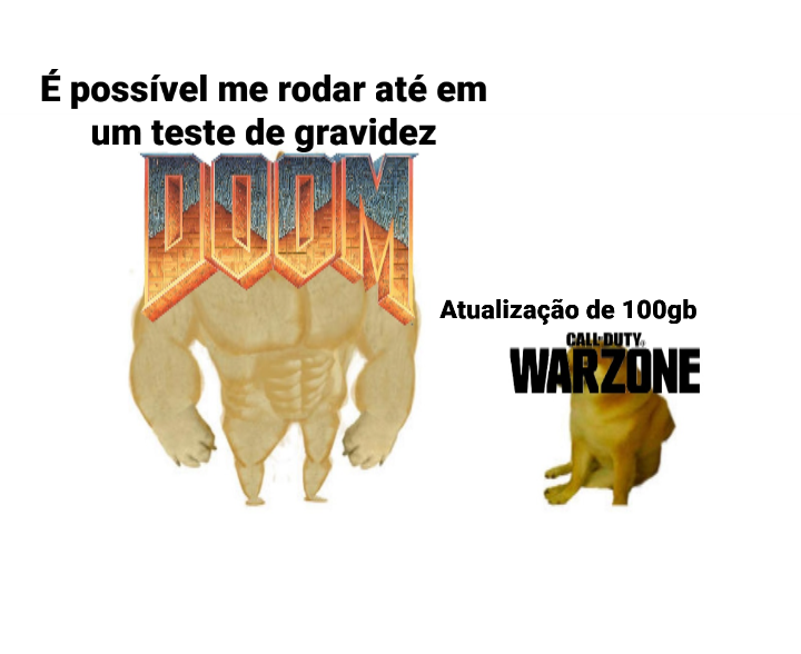 Doom clássico vs. Call of Duty: Warzone