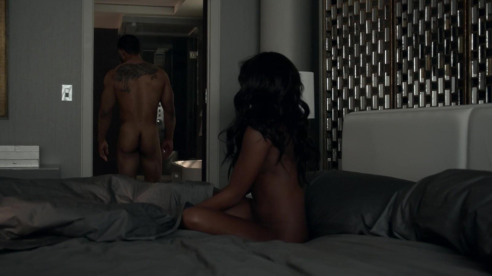 Auscaps Omari Hardwick Nude In Power 1-01 -1006