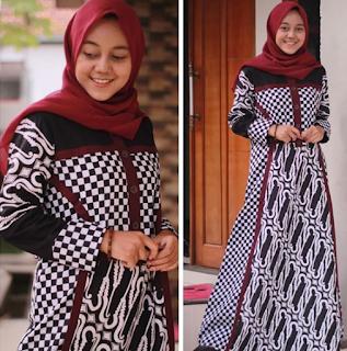Model Gamis Batik Modern Terbaru 2020 Model Baju Terbaru