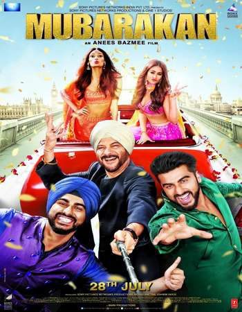 Mubarakan 2017 Hindi 650MB DVDRip 720p HEVC ESubs