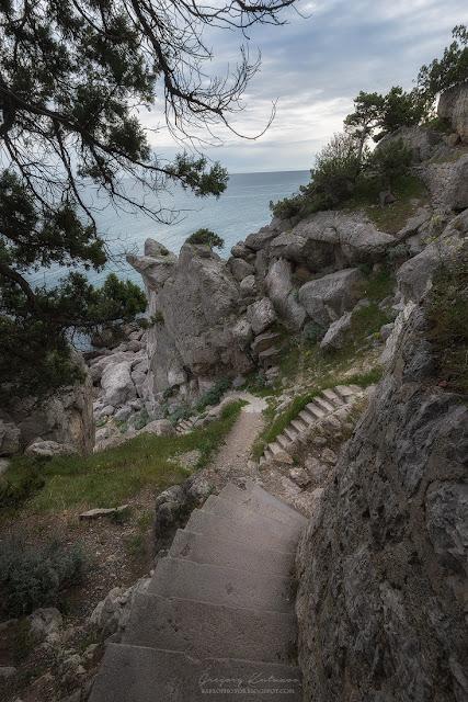 Скала Диво, ступеньки. Симеиз, Крым.
