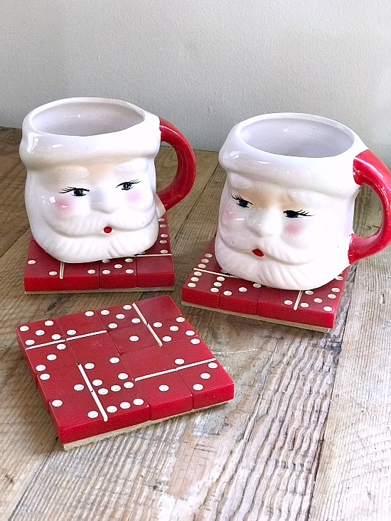 Easy and inexpensive coasters to make for holiday gifts