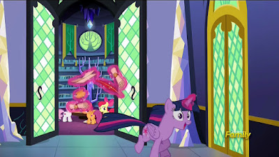 Twilight is thrilled by the (apparent) revelation that griffons can get cutie marks