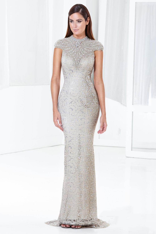 Sheath Gorgeous Short Sleeves Beading Hamilton Floor Length Evening Dress, vestido de festa, party dress