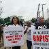 (PHOTOSPEAK) Rape Allegations: See How Protesters Stormed COZA Over Allegation Of Rape Against Pastor Fatoyinbo