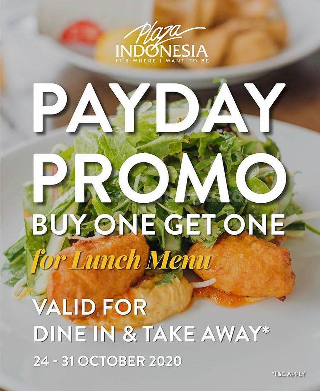 Promo PLAZA SENAYAN Payday Buy 1 Get 1