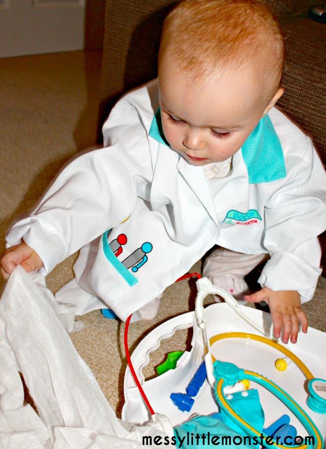 Miss polly had a dolly nursery rhyme doctor and nurse play