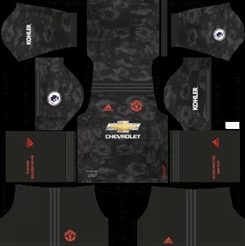 Download Kit DLS Manchester United Third 2019 - 2020
