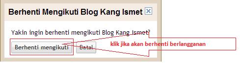 gambar pesan menghapus blog yang diikuti (unfollow blog)