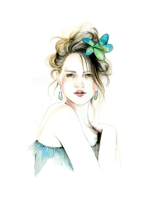 09-Caroline-Andrieu-Fashion-Shows-Distilled-into-Drawing-Portraits-www-designstack-co
