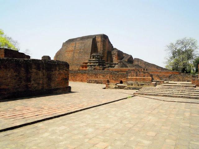 An assembly hall near the Sariputta stupa at Nalanda